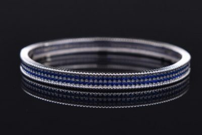 Fashion jewelry latest design for women 925 sliver bracelets with new blue models gemstone 2