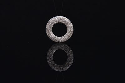 latest 925 sterling silver round shape necklace pendant